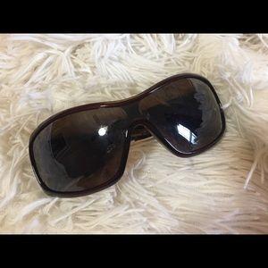 Dolce and Gabbana wide frame shield sunglasses